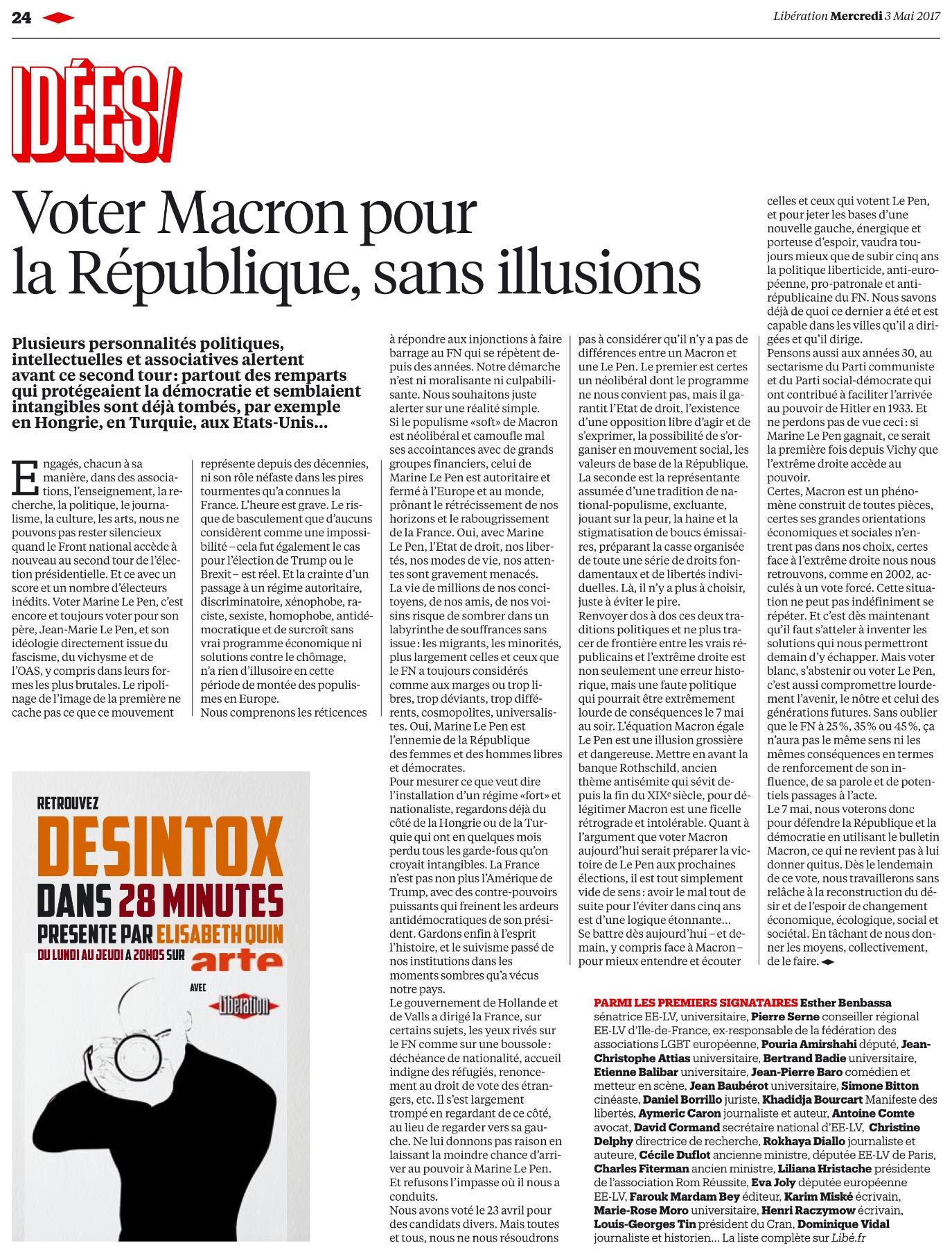 Voter Macron